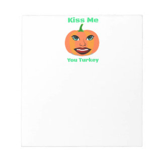 Funny Sexy Pumpkin Notepad