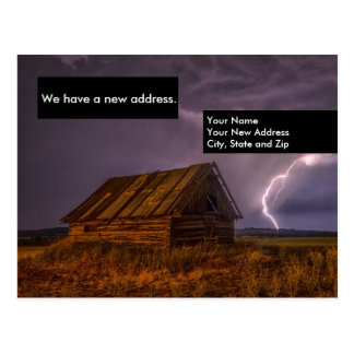 Funny Shack Change of Address Moving Card Postcard