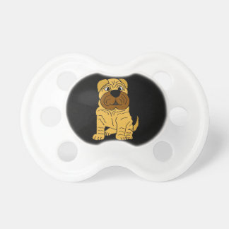 Funny Shar Pei Puppy Dog Original Art Pacifier