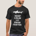 Funny Shark Attack:  Keep Calm and Swim Faster T-Shirt