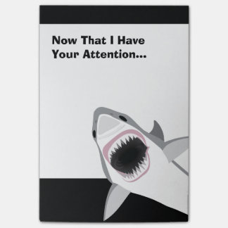Funny Shark Attack Post-it Notes