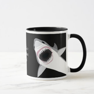 Funny Shark Bite / Shark Attack Custom Text Mug
