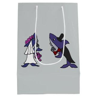 Funny Shark Bride and Groom Gift Bag