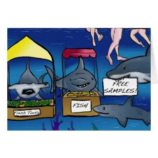 Funny Shark Card Blank Inside