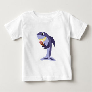 Funny Shark Eating Ice Cream Cone Baby T-Shirt
