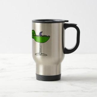 Funny Shark Fin in Margarita Glass Travel Mug