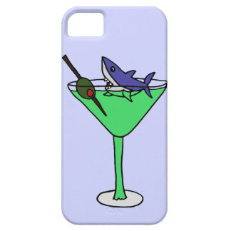 Funny Shark in Green Martini Glass Case For The iPhone 5