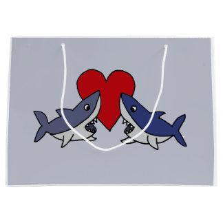 Funny Shark Love Gift Bag