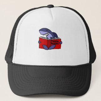 Funny Shark Reading Popular Beaches Book Trucker Hat