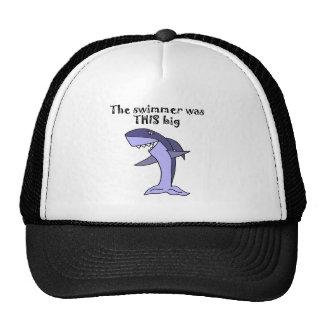 Funny Shark Telling Fish Story Trucker Hat