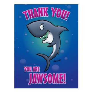 Funny Shark Thank You Postcard