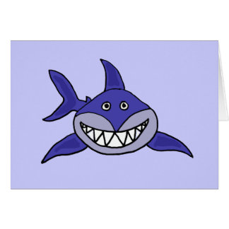Funny Shark Thinking of you card