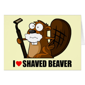 Funny shaved beaver card