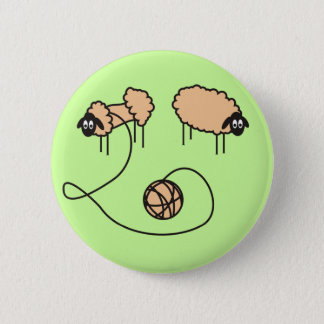 Funny Sheep Button