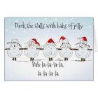 Funny Sheep Christmas  Deck the Halls Card