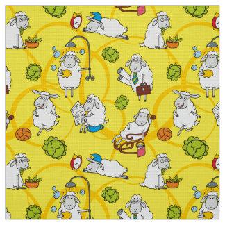 Funny sheep fabric