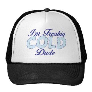 Funny Shirt, I'm Freakin Cold Dude Trucker Hat