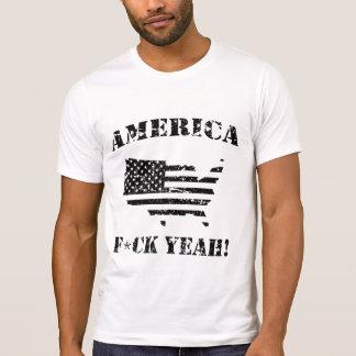 Funny Shirts AMERICA, F*CK YEAH! - distressed