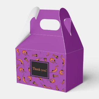 Funny shrimp favor box
