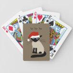 Funny Siamese Santa Cat with Custom Text Card Deck