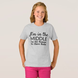 Funny Siblings Middle Child Rules T-Shirt