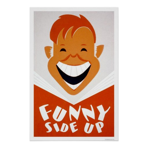 Funny Side Up Reading 1939 WPA Poster