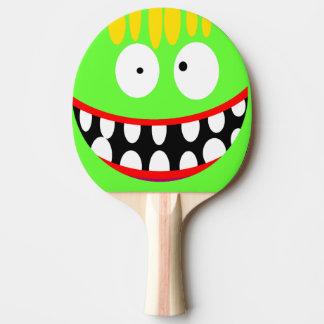 funny silly cartoon smile Ping-Pong paddle