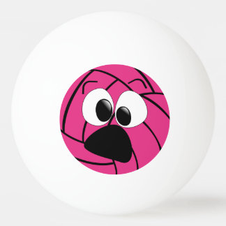 Funny Silly Face Pink Volleyball Ping Pong Ball