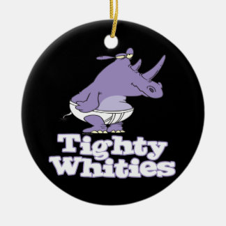 funny silly rhino in tighty whities underwear ceramic ornament
