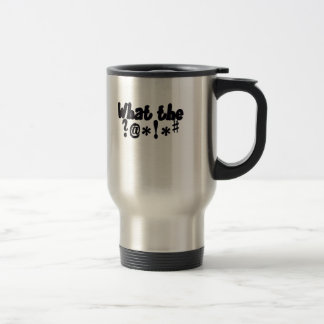 funny silver travel mug