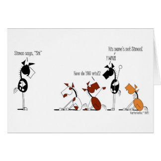 Funny Simon Says Cartoon Card