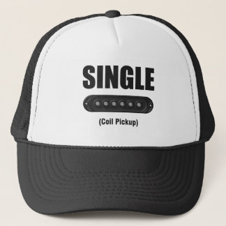 Funny Single Coil Pickup Guitar Trucker Hat
