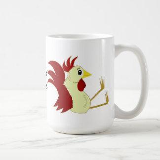 Funny Sitting Rooster Coffee Mug
