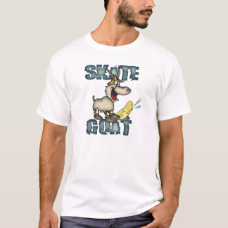 Funny Sk8 Goat Melange Ringer Shirt for Skaters