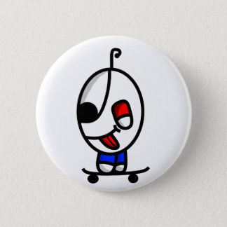 funny skateboarding dude 2 inch round button