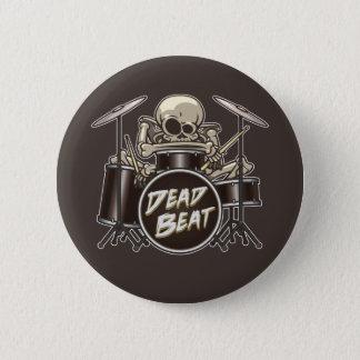 Funny Skeleton Drummer 2 Inch Round Button