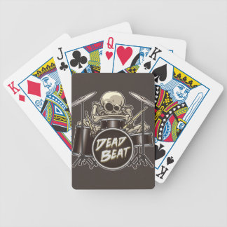 Funny Skeleton Drummer Bicycle Playing Cards