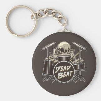 Funny Skeleton Drummer Keychain
