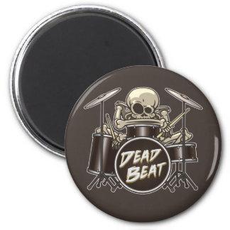 Funny Skeleton Drummer Magnet