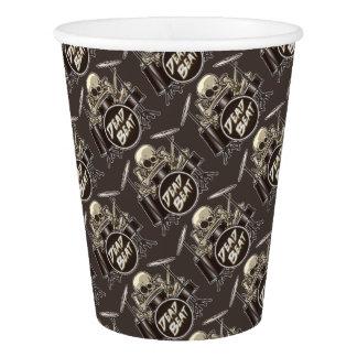 Funny Skeleton Drummer Paper Cup