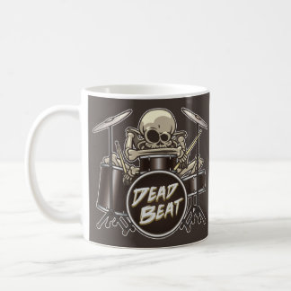 Funny Skeleton Drummer (Personalised) Coffee Mug