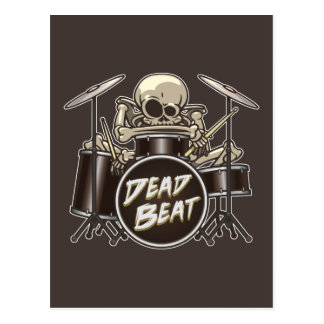 Funny Skeleton Drummer Postcard