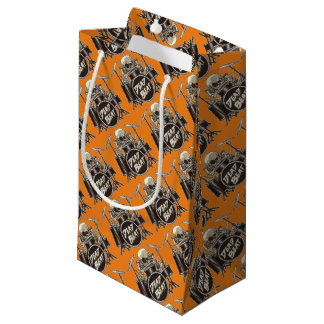 Funny Skeleton Drummer Small Gift Bag
