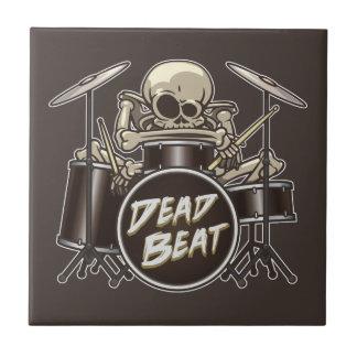Funny Skeleton Drummer Tile