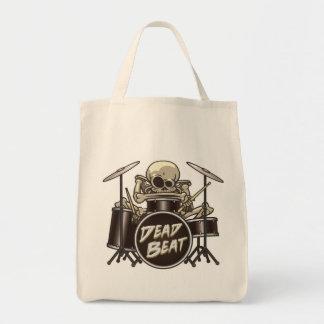 Funny Skeleton Drummer Tote Bag