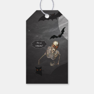 Funny Skeleton Halloween Treat Tags Pack Of Gift Tags