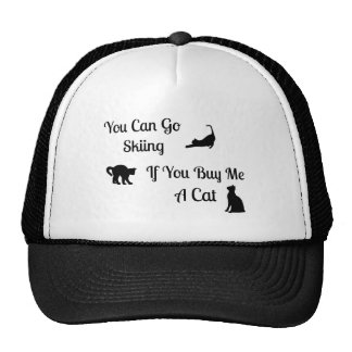 Funny Skiing Cat Trucker Hat