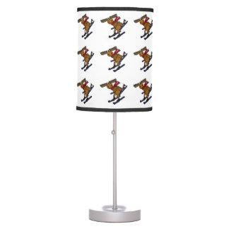 Funny Skiing Moose Desk Lamps