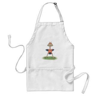 funny skinny red bird standard apron