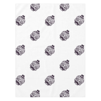 Funny Skull with Derby & Mustache Tablecloth